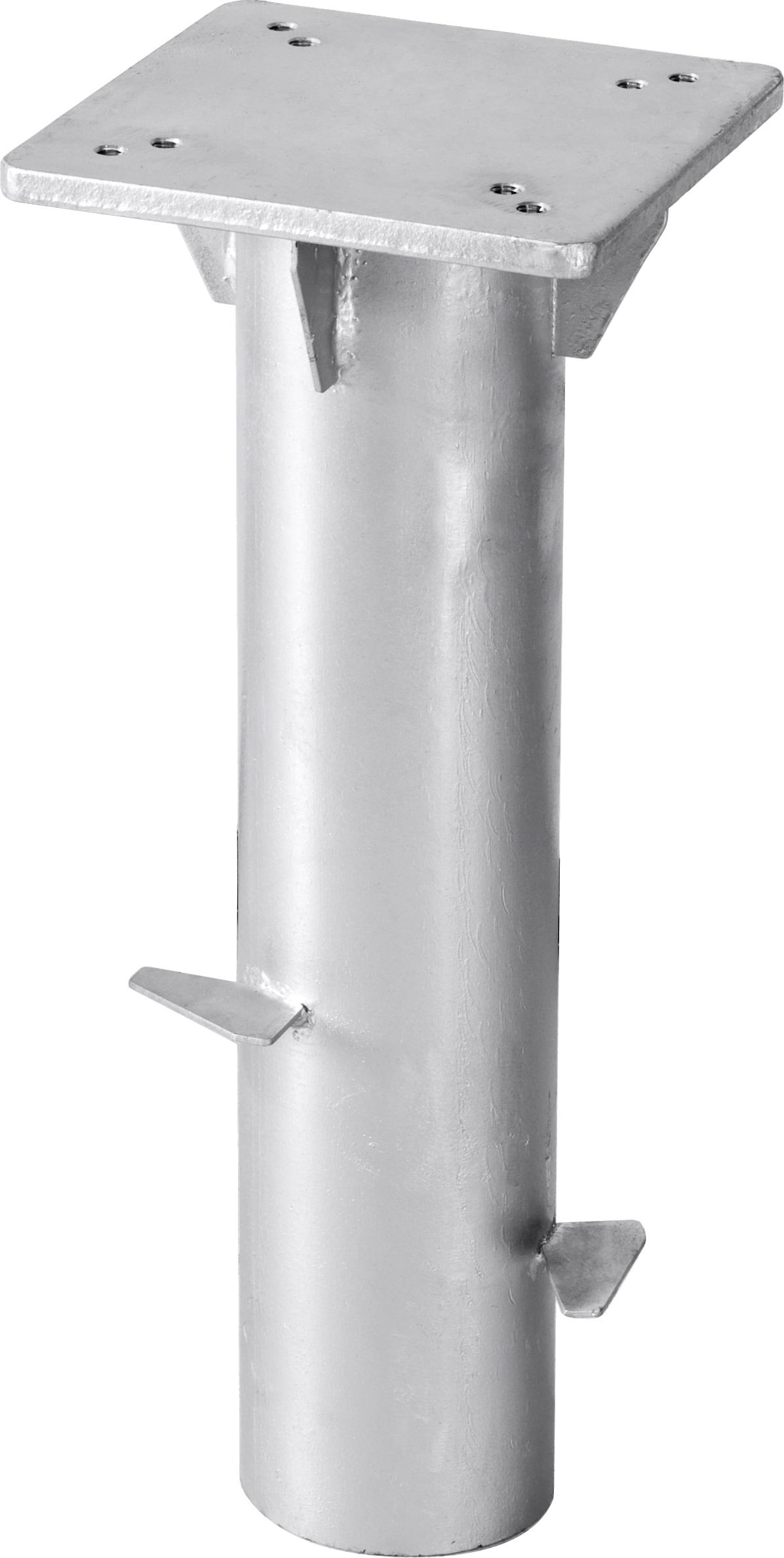 Schneider Schirme Bodenplatte Universal silberfarben Sonnenschirmständer Garten Balkon