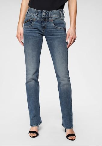 Herrlicher Gerade Jeans »PEARL STRAIGHT«, mit Figurstreckender Nahtführung kaufen