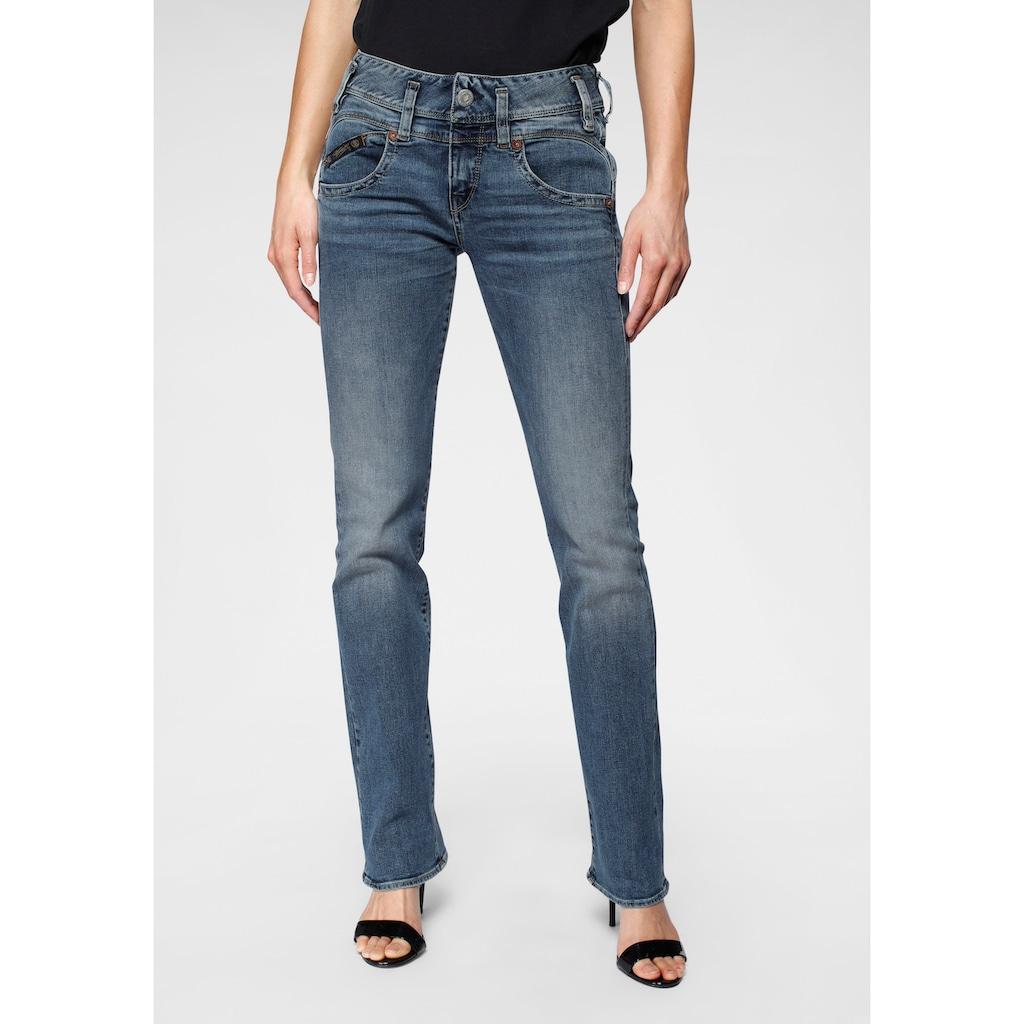 Herrlicher Gerade Jeans »PEARL STRAIGHT«, mit Figurstreckender Nahtführung