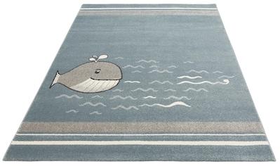 Lüttenhütt Kinderteppich »Whale«, rechteckig, 14 mm Höhe, Motiv Wal, Kinderzimmer kaufen