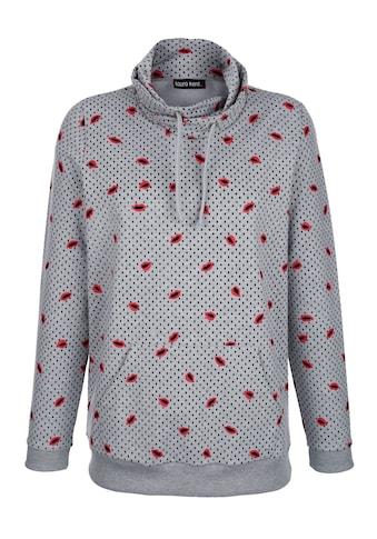 Laura Kent Sweatshirt mit modischem Allover - Druck kaufen