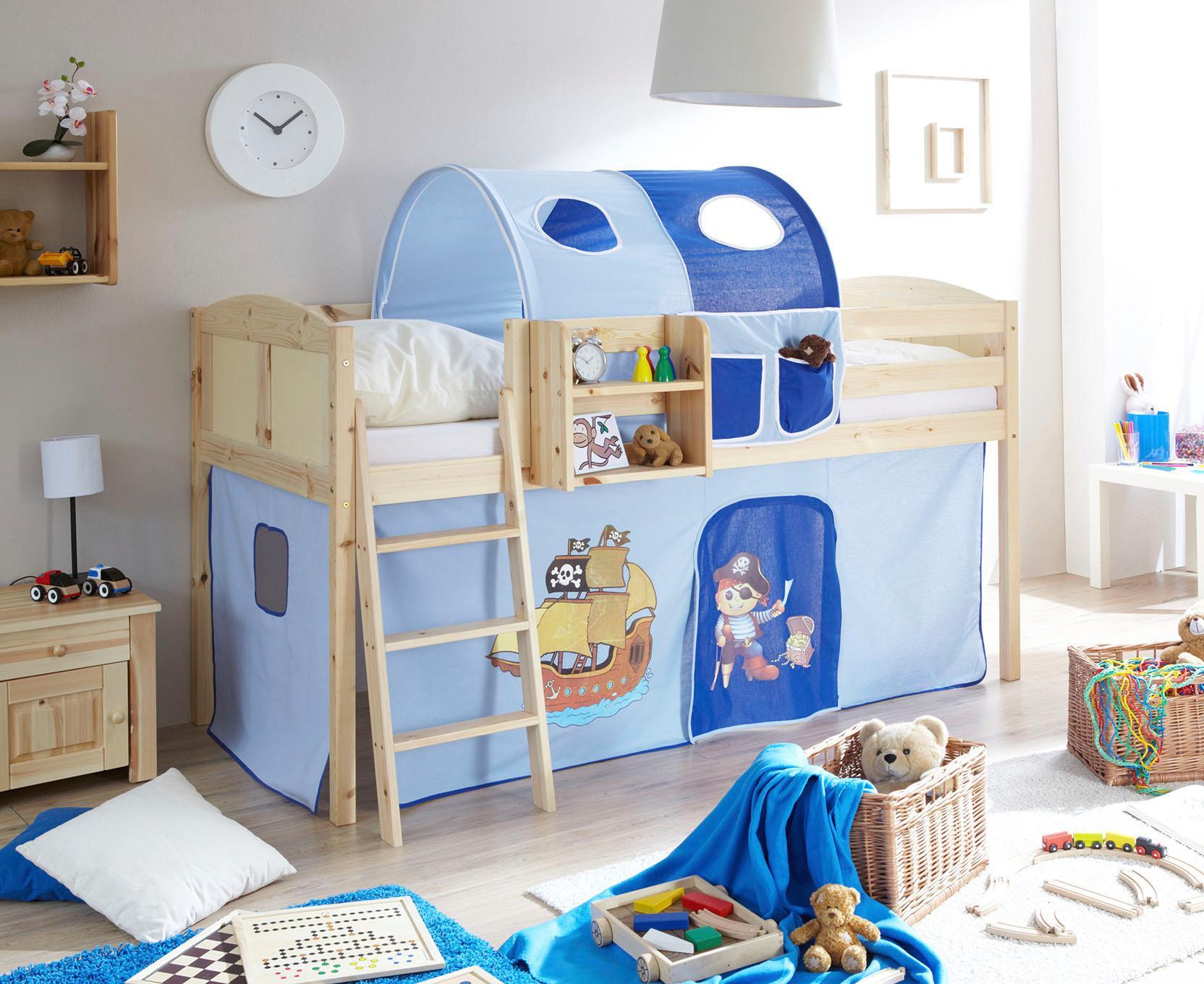Ticaa Hochbett Eric blau Kinder Kinderbetten Kindermöbel