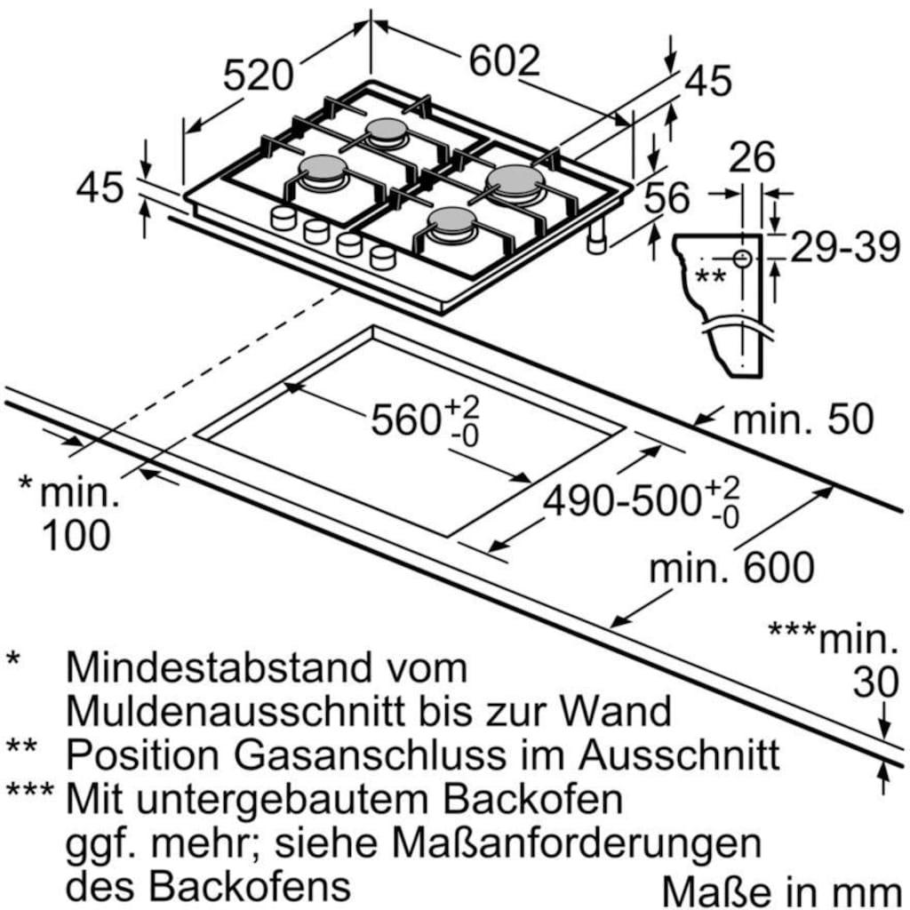 SIEMENS Gas-Kochfeld »ER6A6PD70D«, ER6A6PD70D