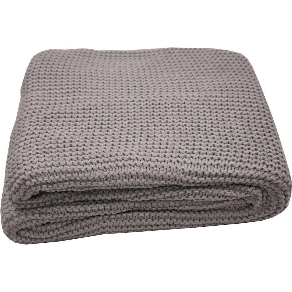 TOM TAILOR Plaid »Plain Knit«, Zeitlos schön