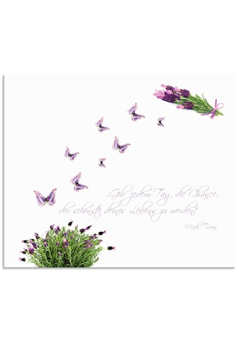 "Artland Küchenrückwand ""Lila Schmetterlinge an Lavendel"", (1 - tlg.) kaufen"