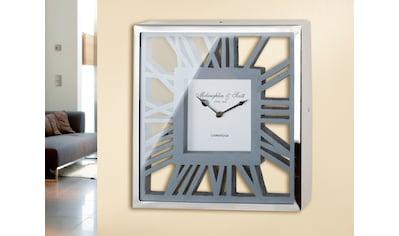 GILDE Wanduhr »Uhr Gris«, eckig, aus Holz und Metall, römische Ziffern, Wohnzimmer kaufen