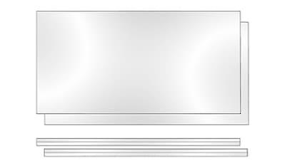 Phoenix Regalelement »Rückwand Altana«, (Packung, 2 St.), B/H/T: 55.2/3/34 cm, Plexiglas kaufen