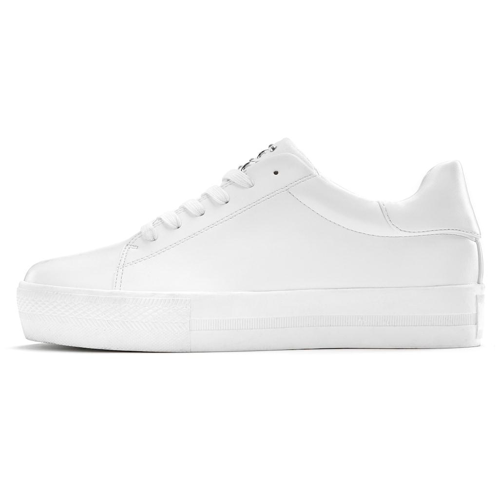 LASCANA Sneaker, mit Plateau und kleinen Steinchen