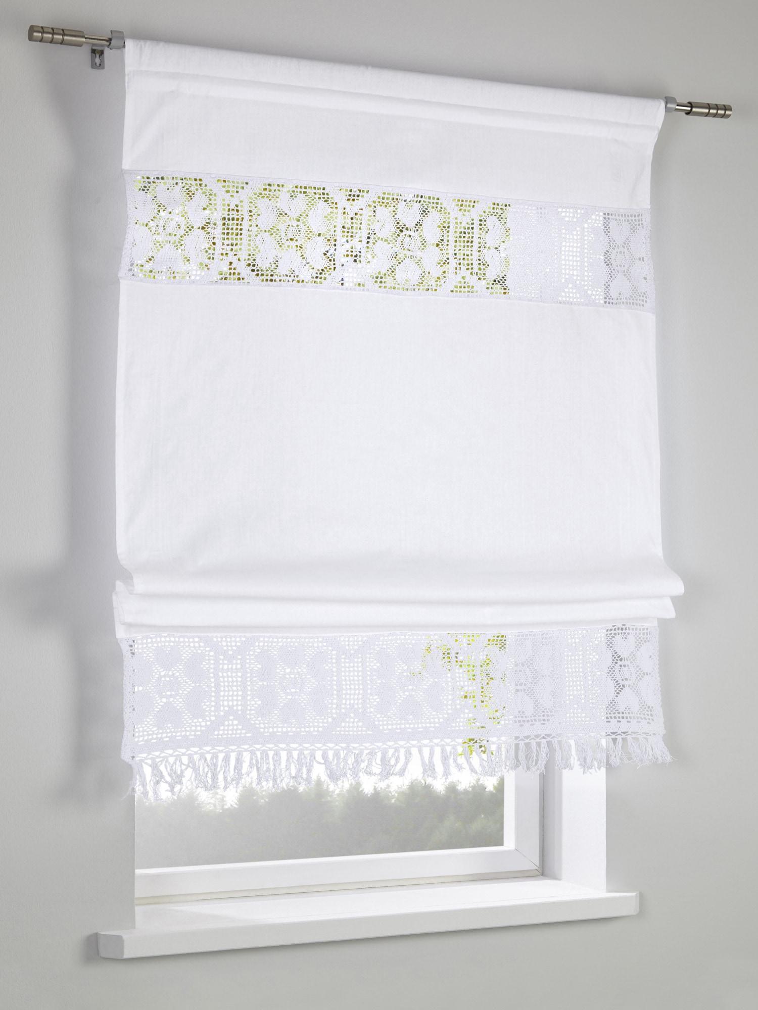 heine home rollo mit dekorativer borduere auf rechnung baur