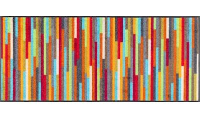 wash+dry by Kleen-Tex Teppich »Mikado Stripes«, rechteckig, 7 mm Höhe, In- und Outdoor geeignet, waschbar, Wohnzimmer kaufen