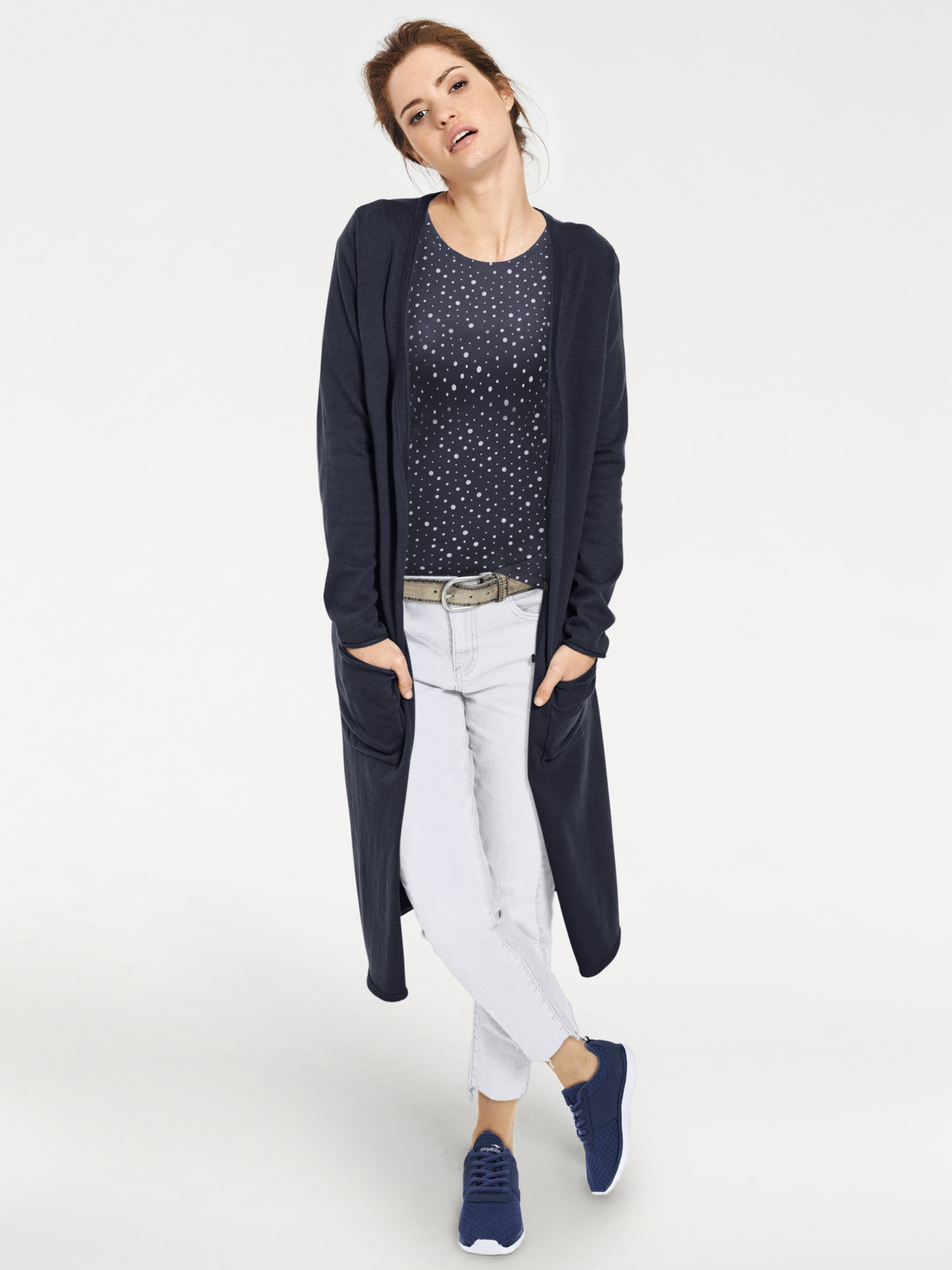 heine CASUAL Longstrickjacke in Feinstrick | Bekleidung > Strickjacken & -mäntel > Strickjacken | heine