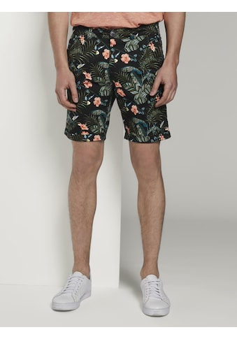 TOM TAILOR Denim Shorts »Gemusterte Chino Shorts« kaufen