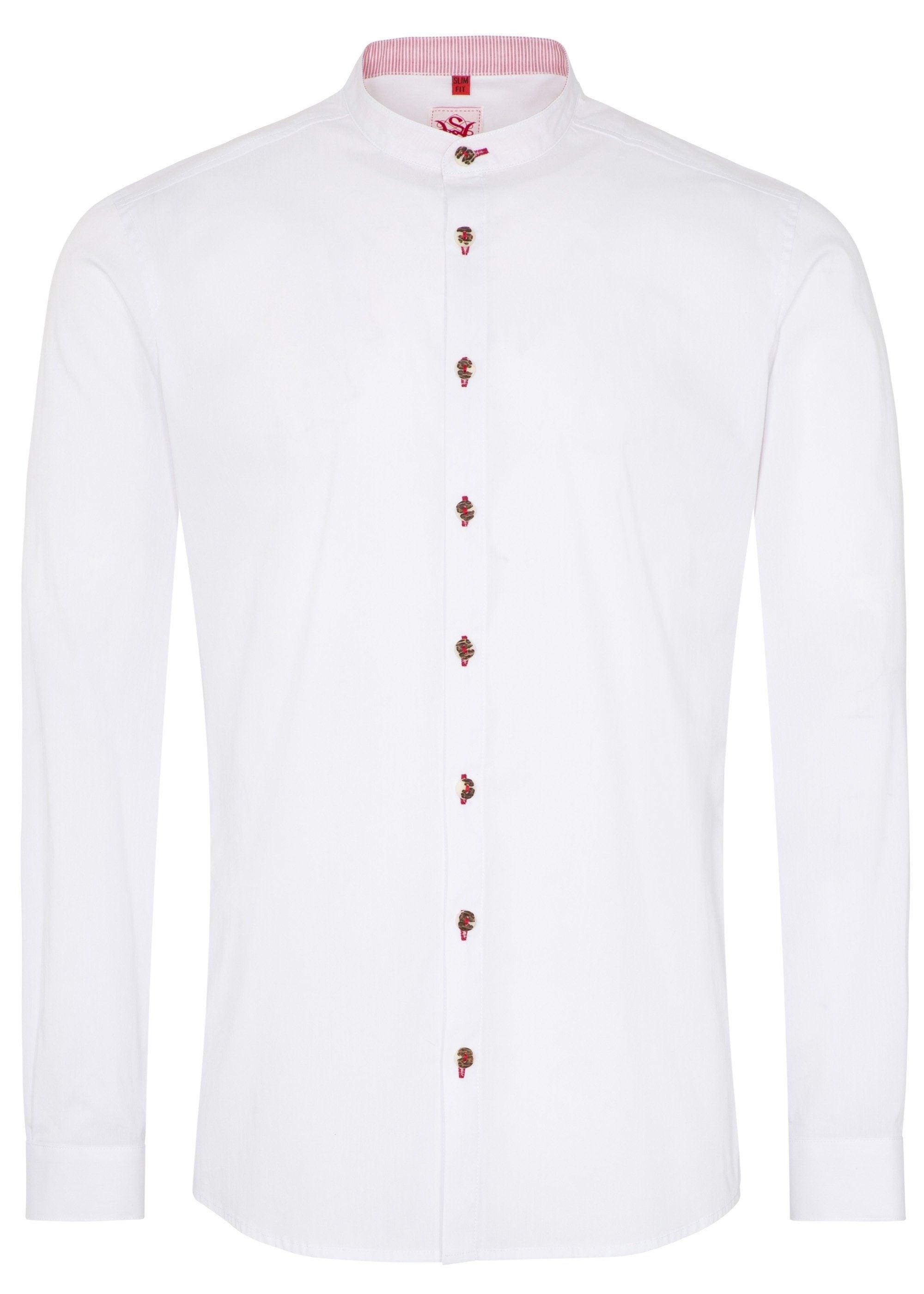 Spieth & Wensky Trachtenhemd ´´Kaspar´´ | Bekleidung > Hemden > Trachtenhemden | Weiß | Jeans - Elasthan | Spieth & Wensky