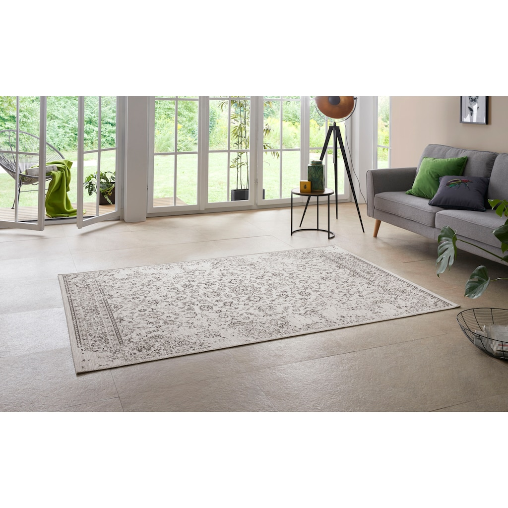 Home affaire Teppich »Sophia«, rechteckig, 3 mm Höhe, In- und Outdoor geeignet, Vintage, Wohnzimmer