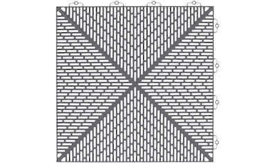 Bergo Flooring Terrassenplatten »Unique Steingrau«, Kunststofffliesen, einfach ineinanderstecken, 5m² kaufen