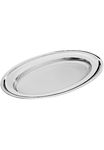PINTINOX Servierplatte »Vassoi«, (1 tlg.), oval, Edelstahl 18/10, spülmaschinengeeinget kaufen