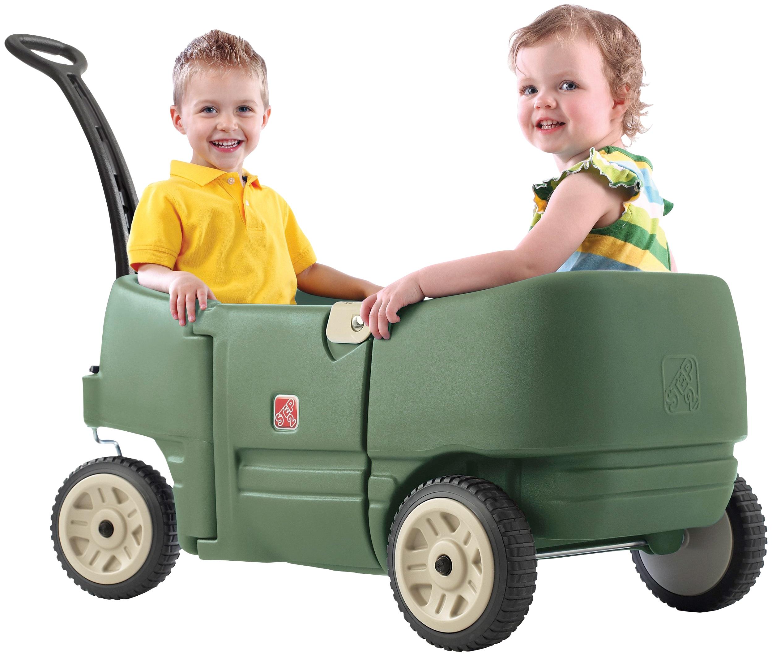 Step2 Bollerwagen, für Kinder von 1,5 bis 3 Jahren grün Bollerwagen Kinderfahrzeuge