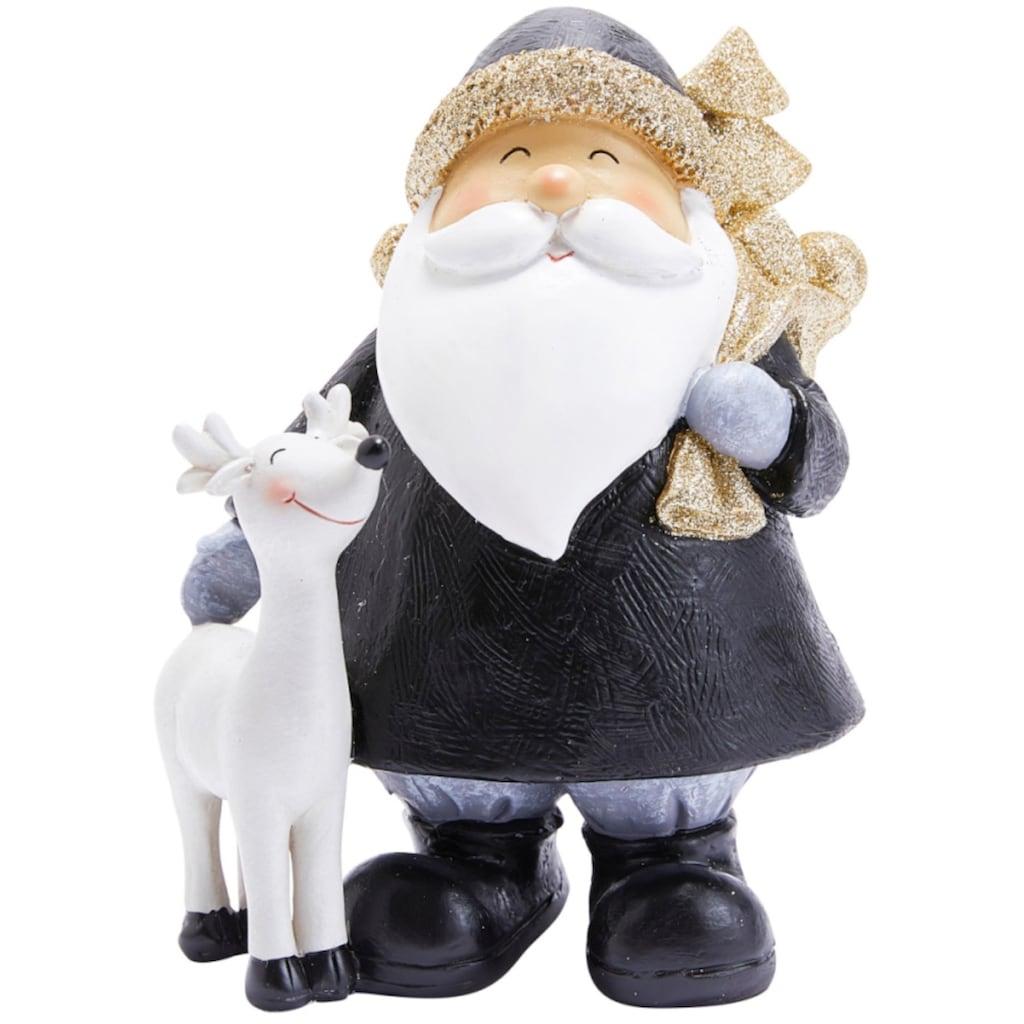 Dekofigur »Lasse«, Santa & Rentier, Höhe 20 cm