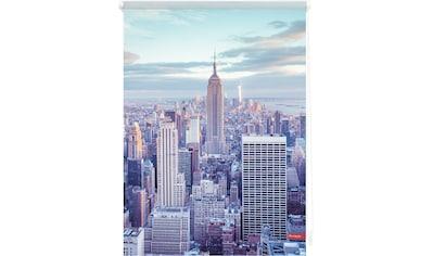 LICHTBLICK Seitenzugrollo »Klemmfix Motiv New York«, Lichtschutz, ohne Bohren, freihängend, bedruckt kaufen