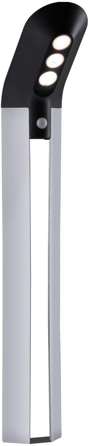 Paulmann LED Pollerleuchte Solar Soley IP44 Bewegungsmelder Anthrazit 3000K 100lm, Warmweiß