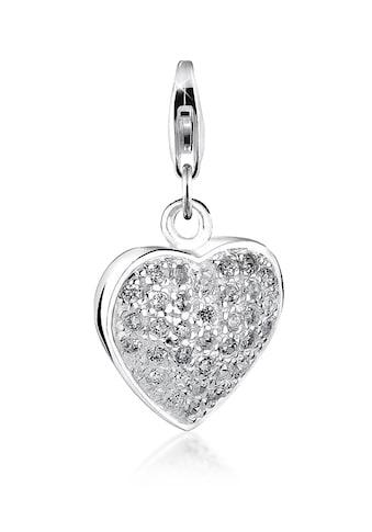 Nenalina Charm - Einhänger »Herz - Anhänger Pave Zirkonia Kristalle 925 Silbe« kaufen
