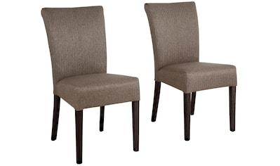 Home affaire Stuhl »Queen«, Beine aus massiver Buche, wengefarben lackiert. Im praktischen 2er-Set kaufen