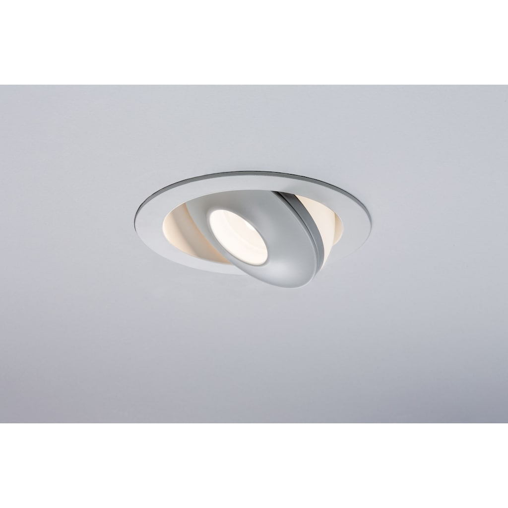 Paulmann LED Einbaustrahler »dimmbar kippbar Weiß Drip 8W«, 1 St., Warmweiß