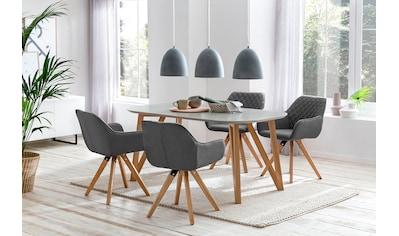 SalesFever Essgruppe, (Set, 5 tlg.), bestehend aus 4 modernen Polsterstühlen und einem 160 cm breitem Tisch kaufen