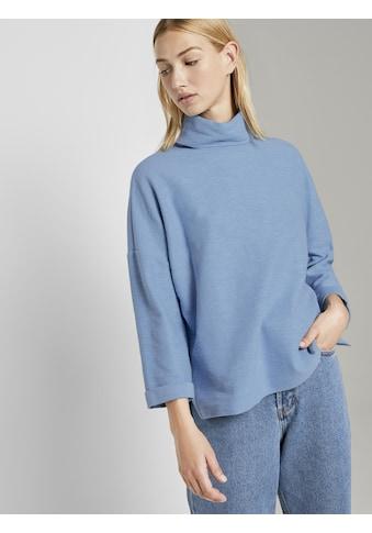 TOM TAILOR Denim Sweatshirt »Rollkragen-Sweatshirt« kaufen