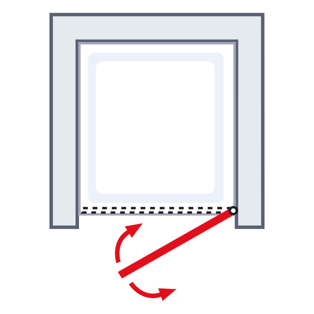 Schulte Pendeltür »Toura«, Nischentür, Türöffnung nach innen und außen