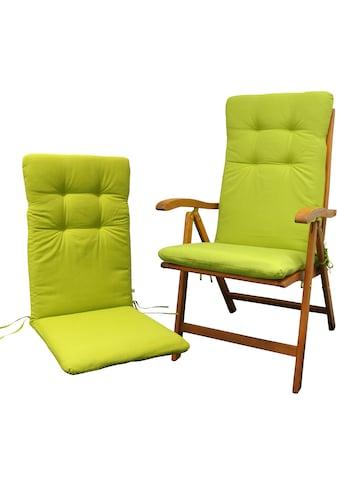 indoba Hochlehnerauflage »Relax«, Grün - IND-70401-AUHL-2 kaufen
