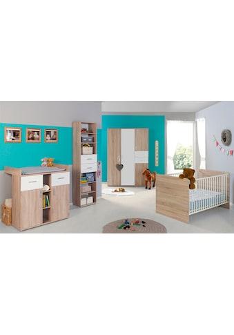 BMG Babyzimmer-Komplettset »Maxim«, (Set, 4 tlg.), Bett + Wickelkommode + 4-trg. Schrank + Standregal kaufen