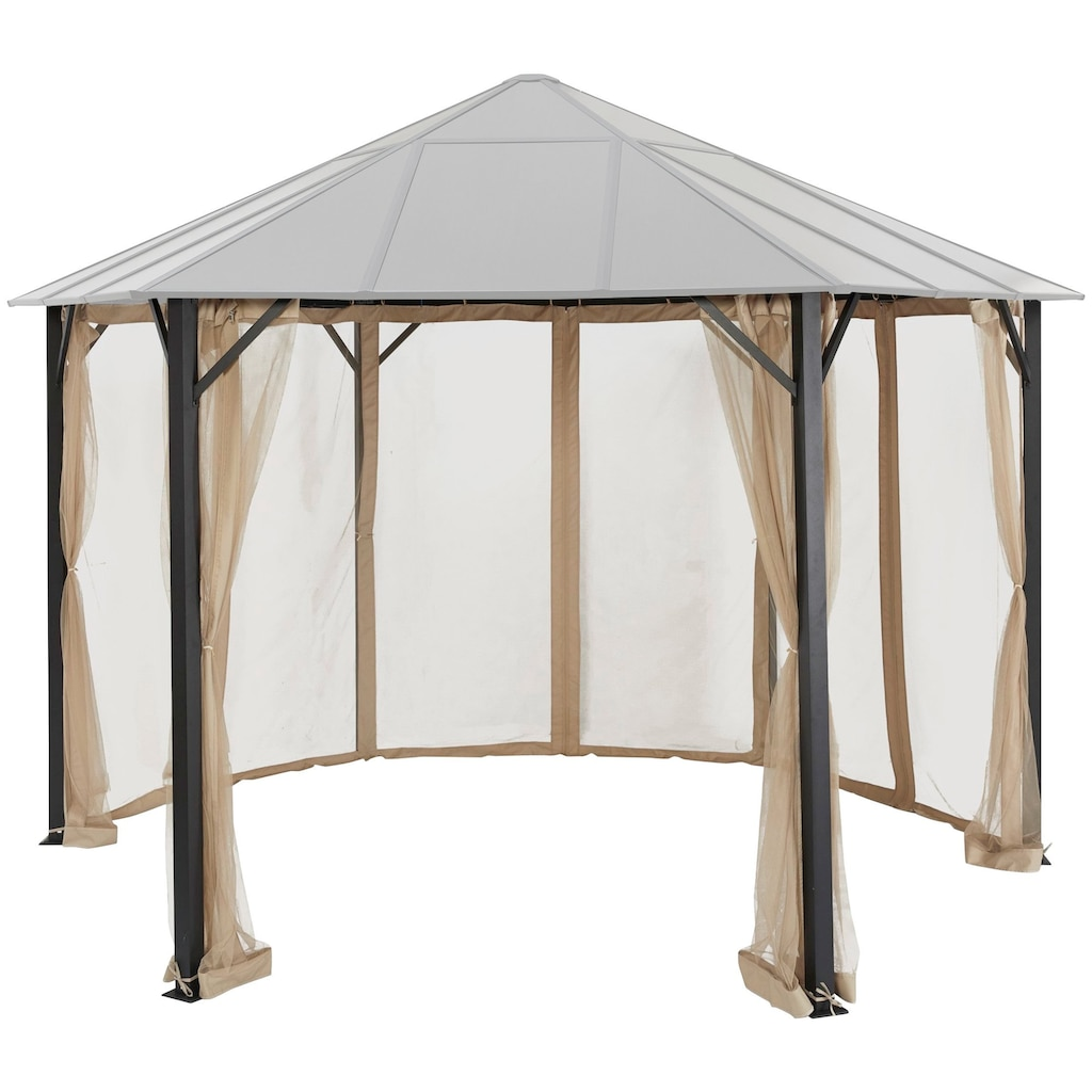KONIFERA Pavillonseitenteile »Costa Brava«, für 350x350 cm, beige