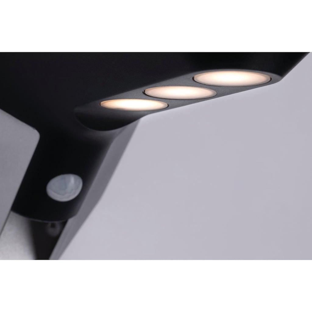 Paulmann LED Außen-Wandleuchte »Outdoor Soley Solar 3000K Anthrazit mit Bewegungsmelder«, Warmweiß