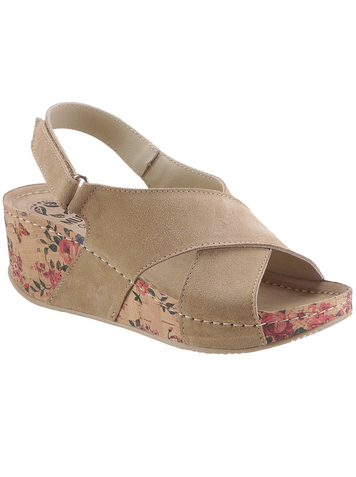 MUBB Sandalette braun Damen Sandaletten Sandalen