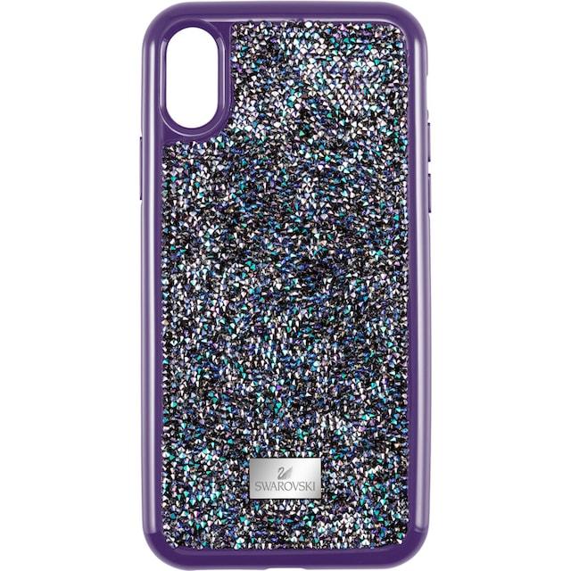 Swarovski Smartphone-Hülle »Glam Rock Smartphone Schutzhülle mit Stoßschutz, iPhone® XS Max, violett, 5478875«