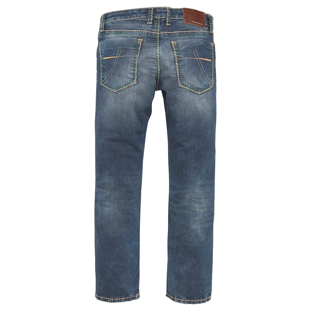 CAMP DAVID Straight-Jeans »NI:CO:R611«, mit markanten Steppnähten