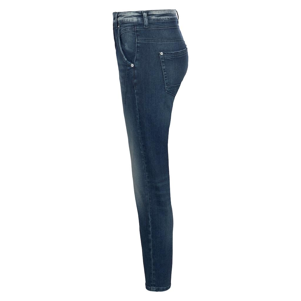 MAC Ankle-Jeans »Rich«, Coole Waschung und moderne Teilungsnähte