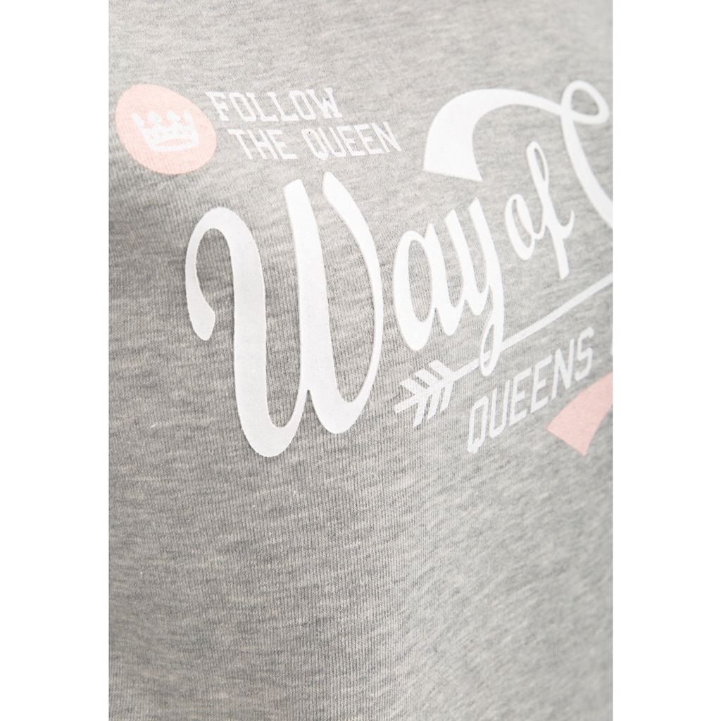 Way of Glory Sweatshirt, mit Vintage Logo Druck