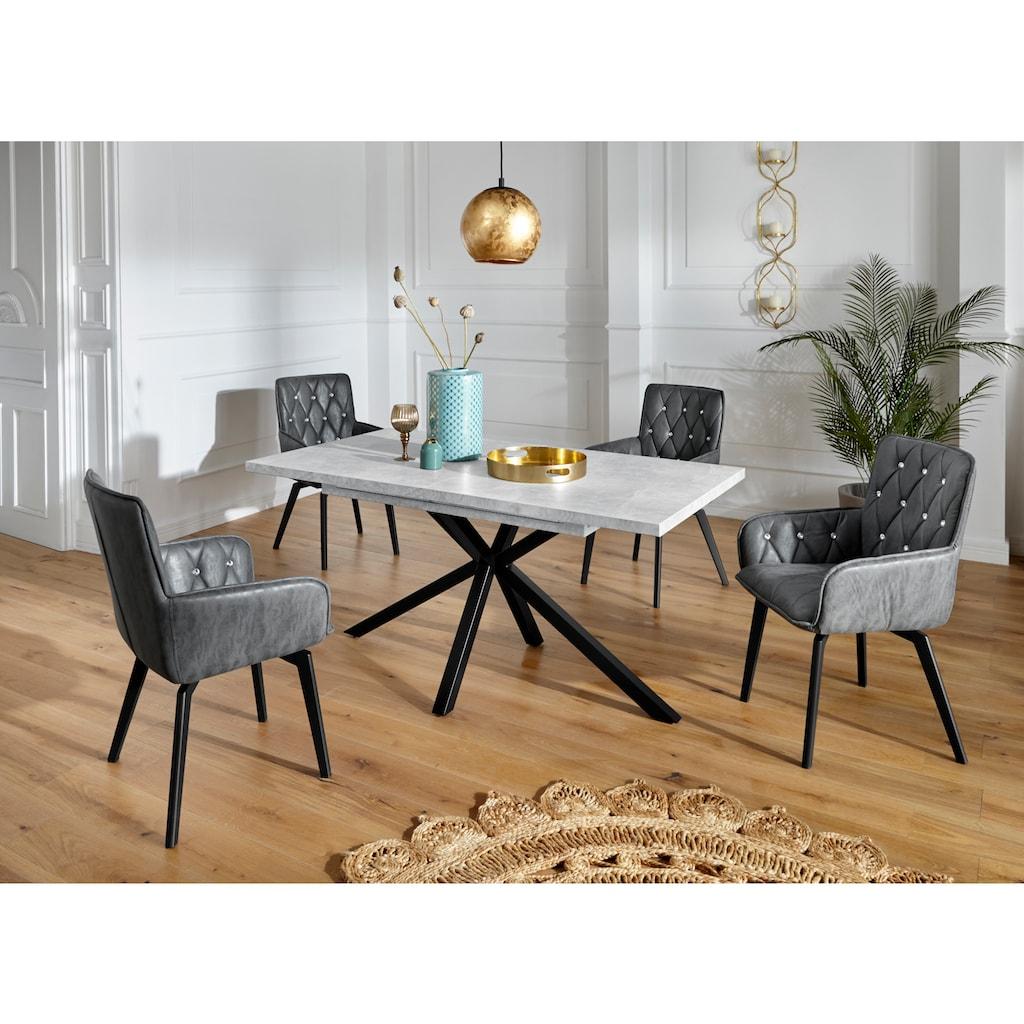 Duo Collection Esszimmerstuhl »Amalia«, 2er-Set, elegante Rautensteppung