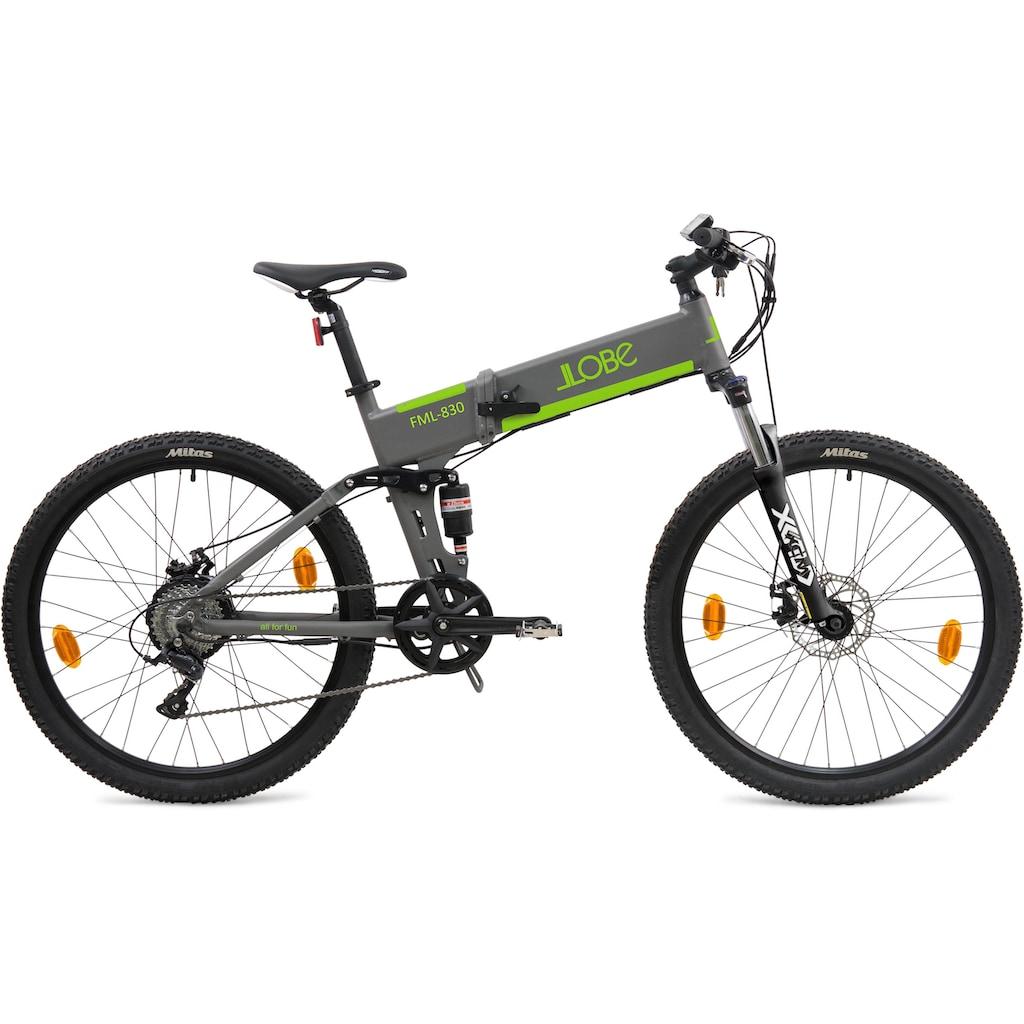 """LLobe E-Bike »FML-830 grey 27,5"""", 10,4 Ah«"""