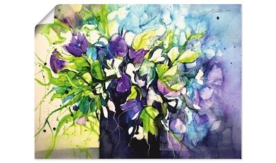 Artland Wandbild »Wicken in schwarzer Vase« kaufen