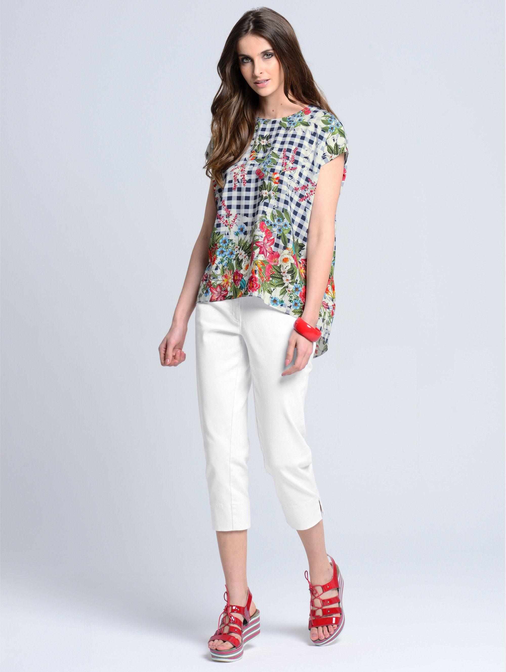 Alba Moda Blusenshirt im angesagtem Printmix
