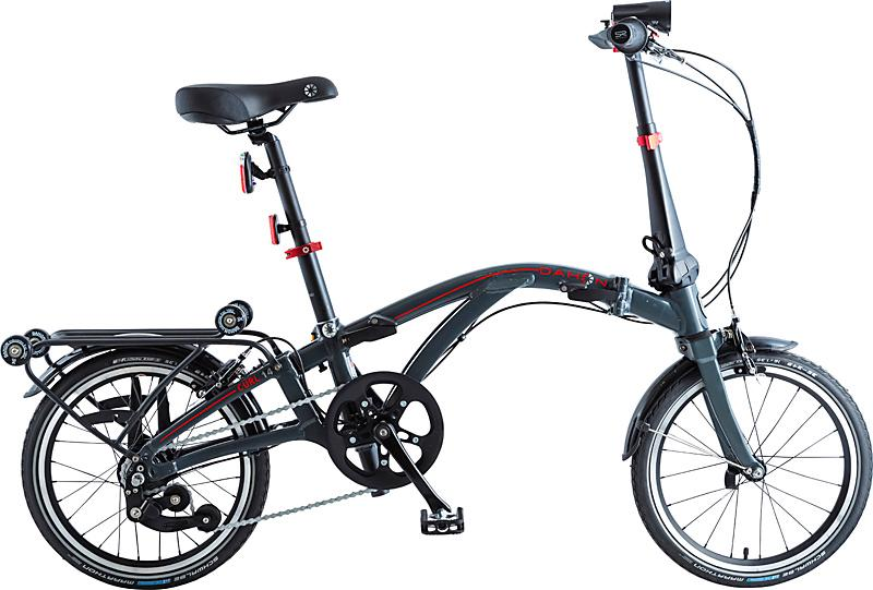 Dahon Faltrad CURL i4, 4 Gang Sturmey Archer Schaltwerk, Nabenschaltung grau Falträder Klappräder Fahrräder Zubehör Fahrrad