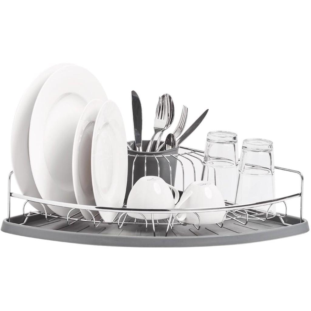 Zeller Present Geschirrständer, Metall/Kunststoff, für die Ecke