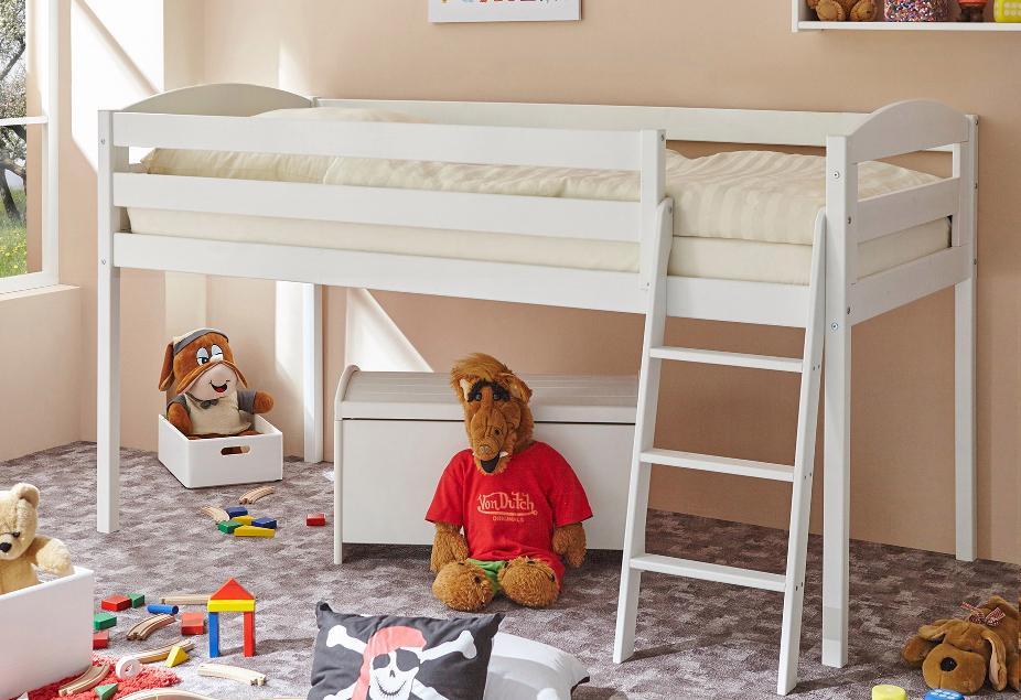 Ticaa Hochbett Eric weiß Kinder Kinderbetten Kindermöbel