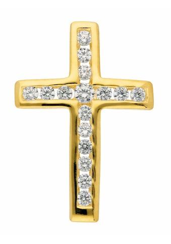 Adelia´s Kettenanhänger »333 Gold Kreuz Anhänger mit Zirkonia« kaufen