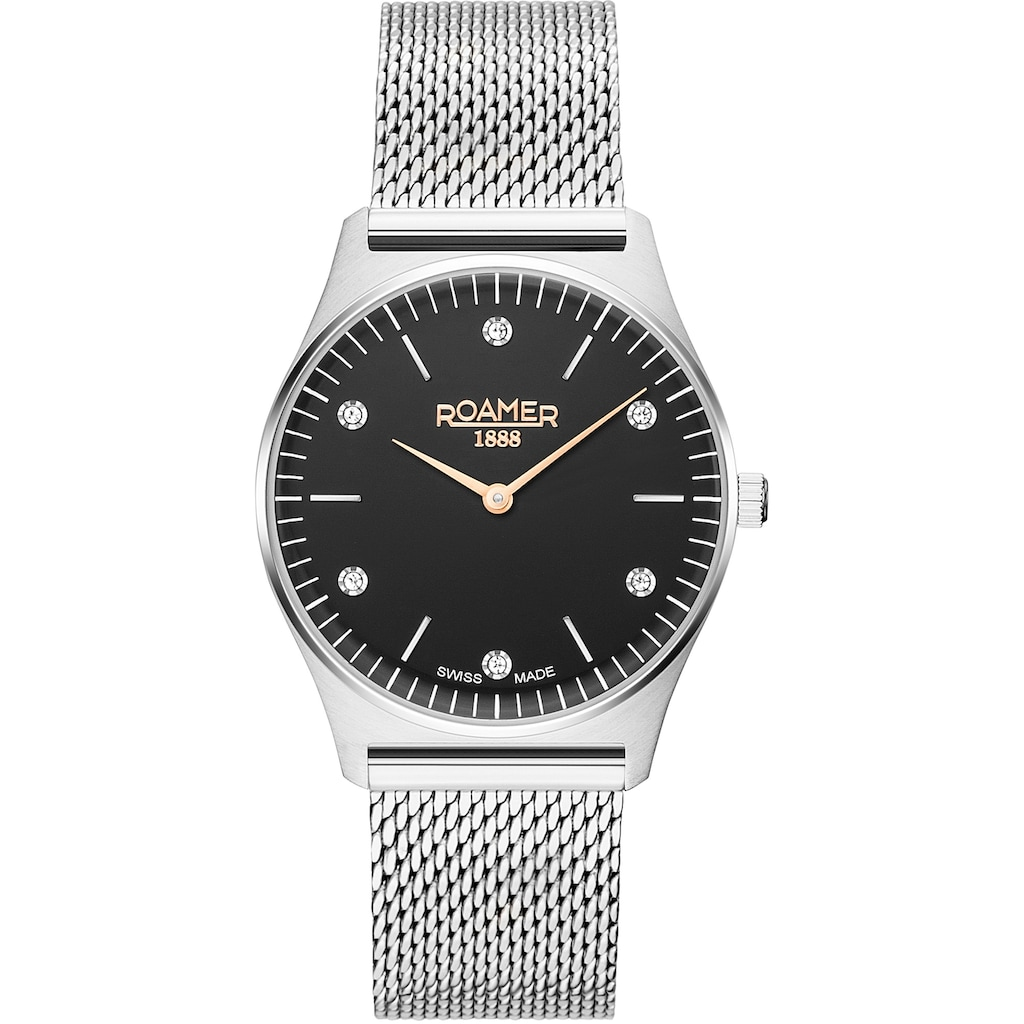 Roamer Schweizer Uhr »Elements Crystal Ladies, 650815 41 60 90«