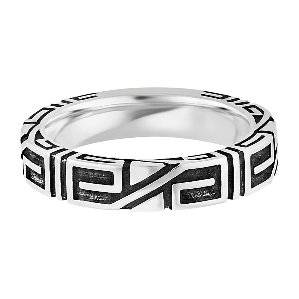 CAÏ Fingerring »925/- Sterling Silber rhodiniert Ornament«, Ring