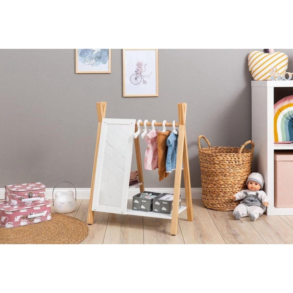 """MUSTERKIND® Puppenkleiderschrank """"Barlia, natur/weiß"""""""